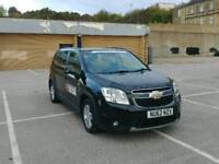 2012 Chevrolet Orlando leeds taxi plated 7 seater 108k mileage Black colour 2.0 diesel