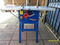 a good 10 inch table saw that also tilts and its got a stand