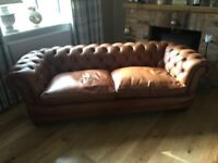 John Lewis Chesterfield Tetrad Leather Sofa