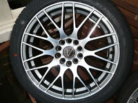 "Brand New WOLFRACE ALLOY WHEELS 215 45 17 TYRES Honda Kia Mazda Toyota 17"" INCH 5x114 alloys wheel"