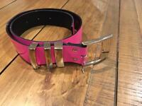 Versace for H&M pink belt