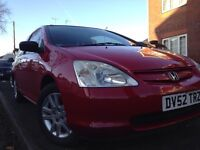 REDUCED - Honda Civic S 1.4 - Very Reliable Car