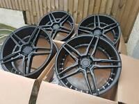 "Brand new 18"" ADV 5.0 style alloy wheels 5x114.3 honda civic type r"