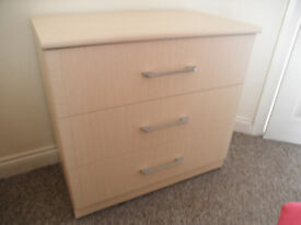 Sand coloured chest of drawers bedroom