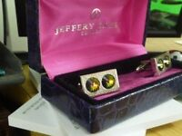 JEFFERY GREEN LONDON CUFF LINKS + BOX