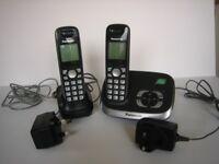 Panasonic digital cordless phone/answering system (2 handsets)