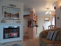 Deluxe 8 berth caravan to rent at Seton Sands, near Edinburgh.