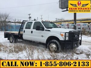 2011 Ford F-350 Crew Cab 4X4 Dually 9 ft Flat Deck, Diesel