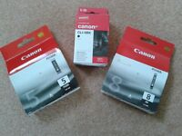 Unopenned Canon Printer Ink Cartridges