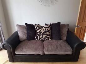 Black and Grey 3 and 2 seater sofa for sale!
