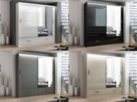 🌺🌺SAME DAY CASH ON DELIVERY🌺🌺 Brand New Marsylia 2 & 3 Door Sliding Wardrobe with free LED light