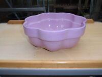 Lilac fluted pot planter / bowl