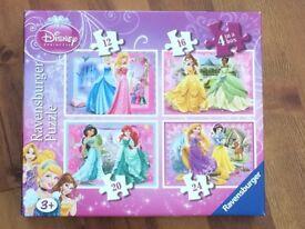 4x Jigsaw Disney Princess 12, 16, 20 & 24 pieces