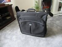 Carlton quality black canvas suit carrier, compartment for suit and 2 other zipped compartments