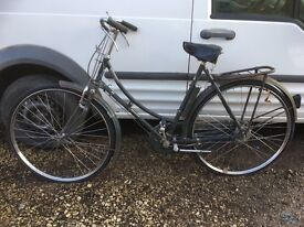 Ladies 1952 Raleigh bicycle, rides well, all original