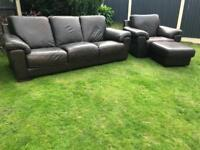 Incanto Italian brown leather sofa suite can deliver