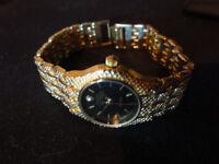 Rolex Ladies Watch Black Gold
