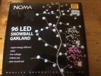 Brand new christmas 96 led snowball garland lights