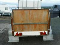 Towable water bowser trailer with self fill water trough stables farm etc
