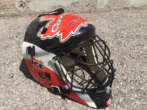 Black Ice Street Hockey Goalie Mask- Teen to Adult