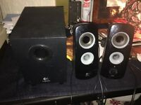 Good Quality Logitech Sub & Two Side Speakers
