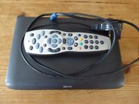 Sky Multiroom box, with cables and remote.