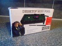 OFFICE ANTICS MINI POOL TABLE-NEW SEALED BOX