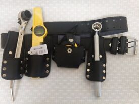 scaffolding black leather belt with 4 Pcs Tools