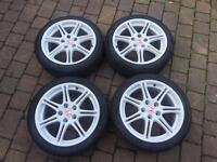 "Honda Civic Type r Type s Ep2 Ep3 Alloy wheels in white 17"""