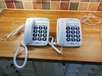 BT Big Button 200 Corded Desk Phones (x2)