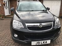 2012 VAUXHALL ANTARA 2.2 CDTI EXCLUSIVE IN METALIC BLACK WITH FULL VAUXHALL SERVICE HISTORY