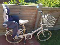 Raleigh retro bike with child seat