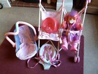 Baby Born Doll with accessories and travel equipment - Shipley