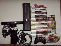 XBOX 360 WITH ONE CONTROLLER,SCART CABLE ,HD CABLE,POWER CABLE