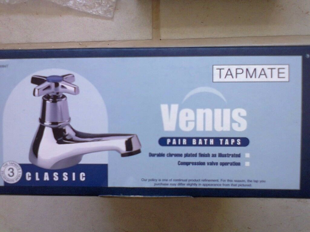 Bath taps. Hot and cold. BRAND NEW........BARGAIN..ONLY £12