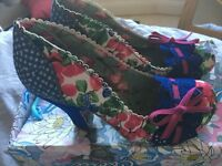 Beautiful Irregular Choice shoes size 7