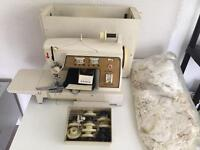 Singer 720 sewing Machine With 700/720 Accessories box, Vintage Lace And Buttons
