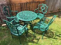 Garden Patio set table and 4 chairs