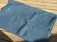 Blue awning groundsheet