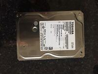 1TB SATA Toshiba Hard Drive 3.5 inch BRAND NEW 2 Available