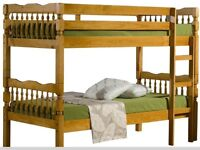 Brand New Solid Pine Traditional Single Bunk Beds
