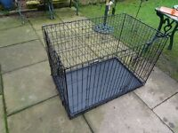 collapsible dog crate - dog cage - large