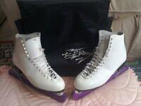 Ladies figure skate boots.