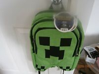 MINECRAFT CREEPER BACKPACK BRAND NEW WITH TAGS