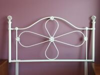 Metal headboard. White double headboard for sale excellent condition.