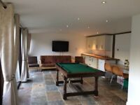Pool/snooker table with slate bed.