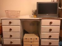 Shabby Chic/Up-cycled Dressing Table - solid pine