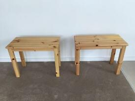Pair of Ikea NORNAS Side Tables