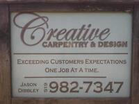 Creative Carpentry now booking decks & fences