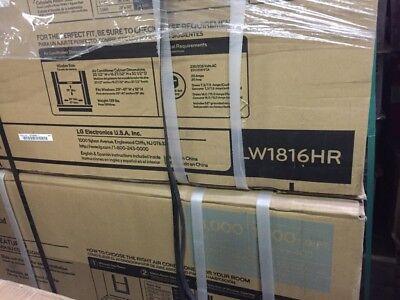 LG LW1816HR 18,000 BTU Window AC 9,800 BTU Heating, Remote, Auto Restart, Timer